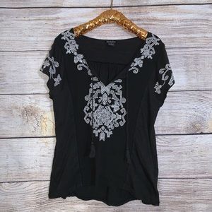 Lucky Brand Tassel Top